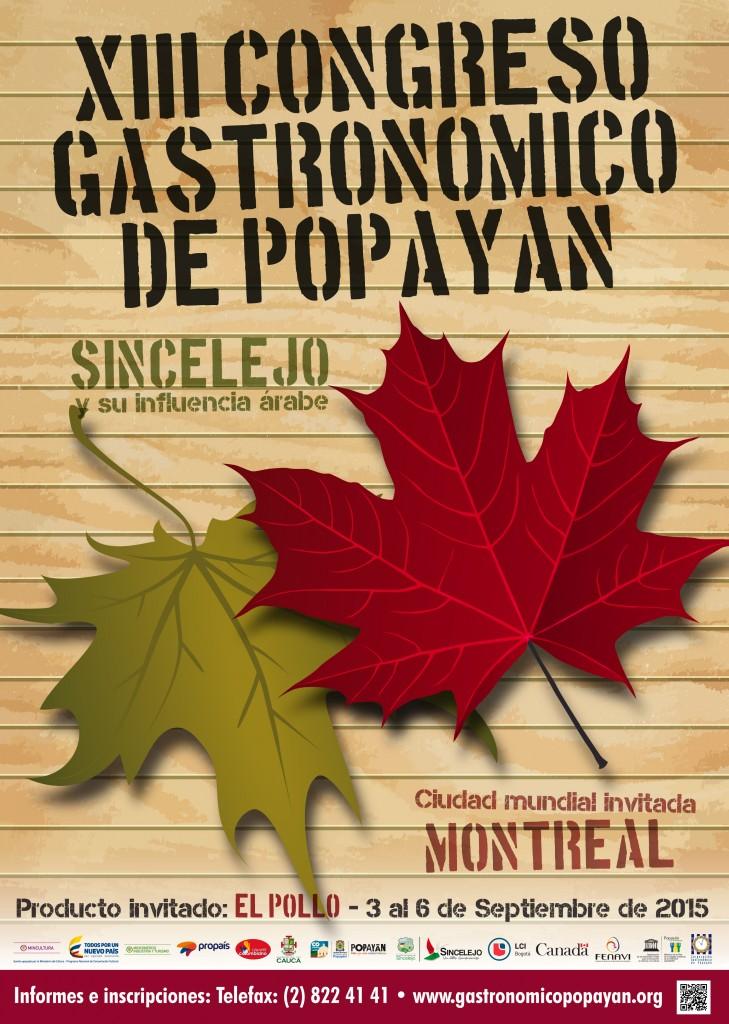 afiche gastronomía 2015